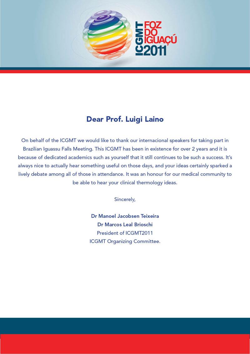 lettera luigi laino